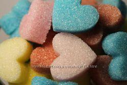 Сахарные сердечки для бонбоньерок