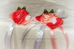 бутоньерки, свадебные украшения, свадебный декор