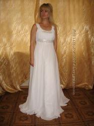 Выпускное свадебное вечернее белое платье на 46, 48