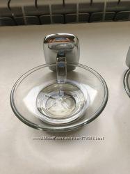 Продам подставки из стекла под мыло  навесные
