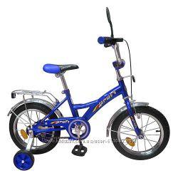 Детский двухколесный велосипед Profi Trike на 12, 14 с боковыми колесами