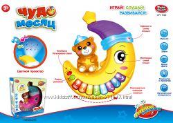 Музыкальная развивающая игрушка-проектор  Ночник  Чудо месяц 7696