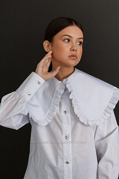 Новинка Оригинальная школьная блуза рубашка