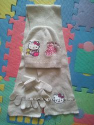 Набор шапка , шарф, перчатки