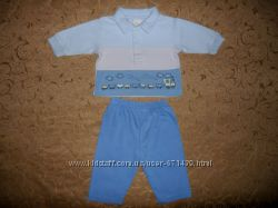 Симпатичный костюмчик на малыша 3-6мес. -кофта и штаны