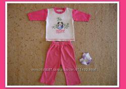Летний костюм для малышки 3-9мес. -кофта, штаны