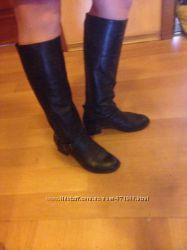 Сапоги Антонио Биаджи натуральная черная кожа 40 размер на стопу 26 см.