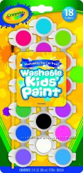 Краски Crayola 18 Count Assorted Colors Washable Kid&acutes Paint