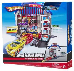 Hot Wheels Игровой набор и машинка. Hot Wheels Deluxe Super Service Center