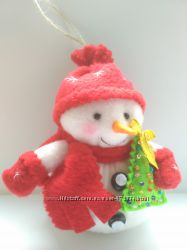 Мягкий снеговик из флиса.