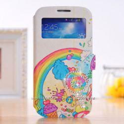Чехол книжка Samsung S3  S4 S5  i9500 9508 i9300  Note 3 4 N900 g7100