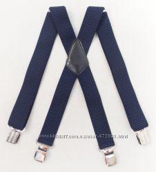 Широкие мужские подтяжки Paolo Udini синие арт. 142