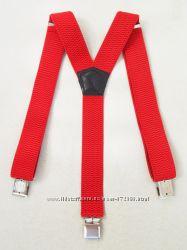 Подтяжки широкие красные арт. 318