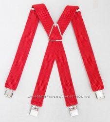 Красные широкие подтяжки арт. 306