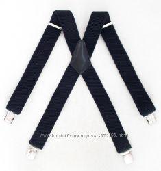 Мужские черные подтяжки широкие Topgal арт. 337