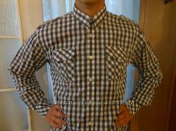 Крутая рубашка в крупную клетку в идеальном состоянии