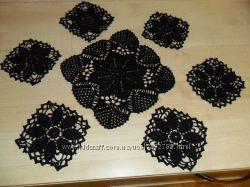 Салфетки в наборе в черном цете