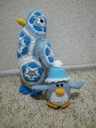 Игрушки крючком- пингвин