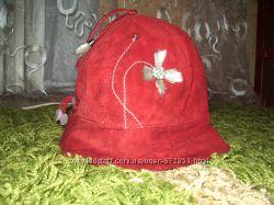 Замшевая кожаная стильная шляпка