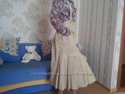 Юбка с бретельками на девочку-подростка 46 размер