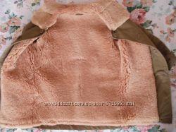 Теплющее пальто на цигейке на 7-8 лет
