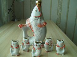 Ретро-сервиз Рыбки новый