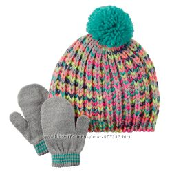 Шапки и перчатки варежки Carters для девочек Ч1