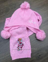Весенне-осенние комплекты шапочки и шарфики