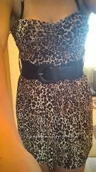 Платье леопардовое Tally Weijl с чашкой.
