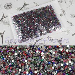 Разноцветные стразы 2 см. для дизайна ногтей или декора - 300 штук.
