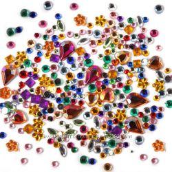 Разноцветные фигурные стразы 1, 5-2, 5мм. для дизайна ногтей или декора-300
