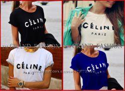 Гламурная футболка Celine