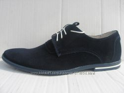 Стильные туфли натур. замш Van Kristi мод. 343  синие и черные
