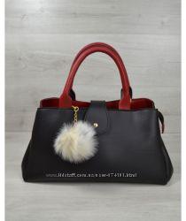 97a70ad1b883 Молодежная сумка Альба черная с красным, 470 грн. Женские сумки ...