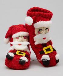 Тапки носки Санта Клаус