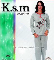 Женская пижама Рукавштаны хлопок на байке. Турция. Отличное качество.