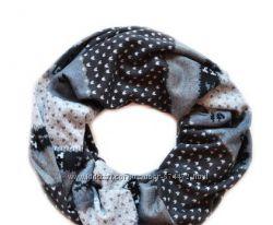 Стильный шарф - хомут Вискоза 100 Турция. деми