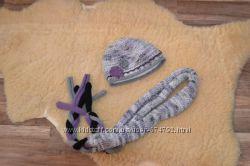 Шапка с шарфом-женский наборчик