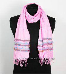 Шарф хлопок Индия розовый