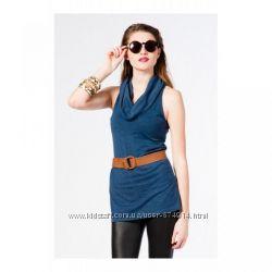 Платье-туника  Bershka синий меланж распродажа