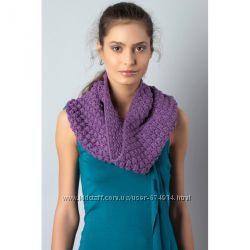 Extract горжетка - шарф вязанная фиолетовая распродажа