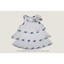 Платье - туника  многоярусное украшено вязаным цветком с бусами  To Be Tоо