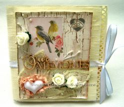 Свадебный конверт для диска Our memories на заказ