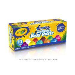 Краски Crayola. 10 цветов по 59 мл. Всего около 600мл краски
