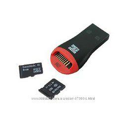Картридер переходник с карты памяти micro sd в USB