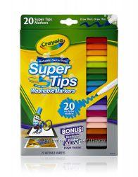 Смываемые фломастеры Crayola. Упаковка 20 шт