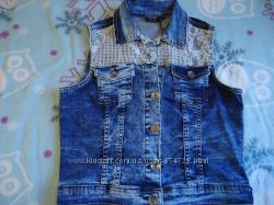 джинсовый жилет 38 размер