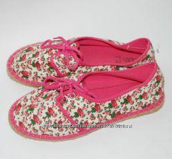 Еспадрильи в цветочек 38 р-р. натуральный текстиль