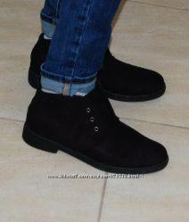 Ботинки черные осенние 40 р-р стелька 25. 5 см