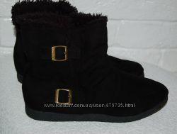 Ботинки черные 38 р-р еврозима